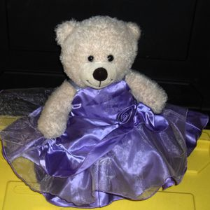 Build A Bear - Purple Dress w/ Flower Teddy Bear for Sale in Fullerton, CA