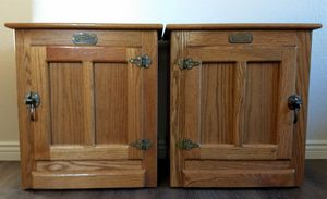 Vintage Simmons Replica White Clad Ice Box Oak Chest, Nightstands ~ Pair $80 for Sale in San Diego, CA