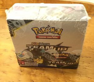 Pokémon booster box 36 unopened packs of sun and moon Team Up for Sale in Pekin, IL