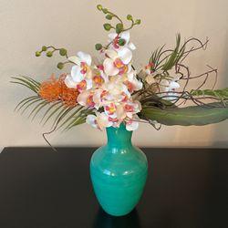 Fake Flower Bundle + Vase for Sale in Beaverton,  OR