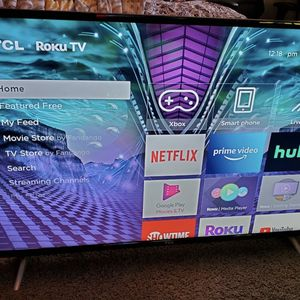 "SellinTCL 50"" Class 4K UHD LED Roku Smart TV 4 Series. Has Resolution 4K and 3 HDMI inputs. Pick up is off Ohio and Preston in Frisco TX near for Sale in Frisco, TX"