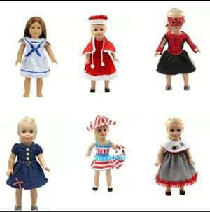 8 America Girl/18in Holiday Doll Clothes for Sale in Columbia, MD