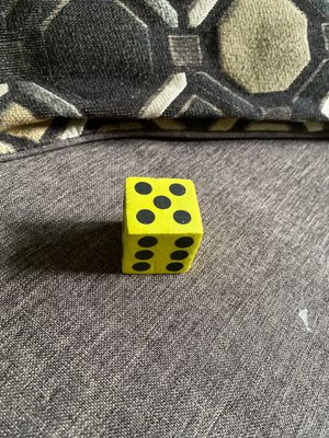 """Large Yellow Foam Six-Sided Die - 1.5"""" for Sale in Ithaca, NY"""