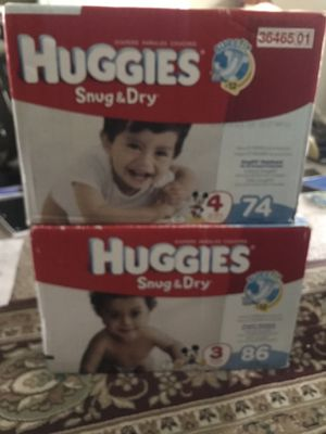 Huggies diapers two boxes for Sale in Raleigh, NC