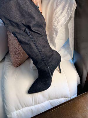 Denim Thigh High Boots for Sale in Murfreesboro, TN
