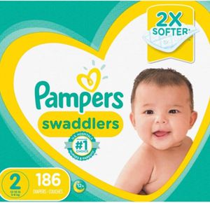 Pampers Swaddlers Diapers Size 2 186 Count - New for Sale in Hayward, CA