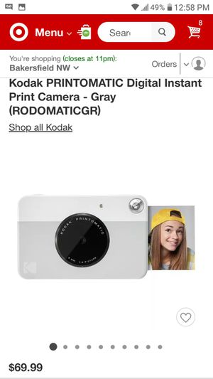 Kodak PRINTOMATIC 10.0 MP Compact Digital Camera + Film & extra film for Sale in Bakersfield, CA