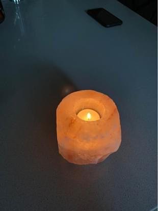 """4""""x4"""" Himalayan Sea Salt Candle Holder"""