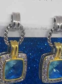 New Silver 925.Earrings.Gift.Italy.Mail Only for Sale in Needham,  MA