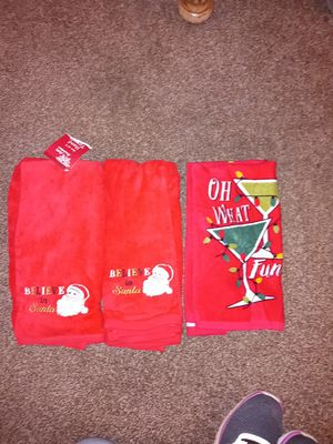 Christmas Hand and kitchen towels for Sale in Vancouver, WA