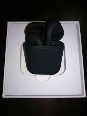 New Black touch Wireless Bluetooth headphones with touch capabilities. Wireless charging case included. 3 hour talk time for Sale in Phoenix, AZ