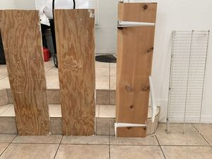 4 garage shelves and some brackets 42 inches long for Sale in Miami, FL