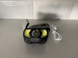 Headlamp - USB RECHARGEABLE - built in induction switch, 300 lumens for Sale in Phoenix, AZ