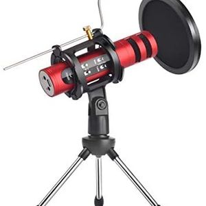 Femate X2A Voice Changer Microphone, with Pop Fliter, Tripod Stand and Metal Rod, Portable Karaoke Microphones, for Computer for Sale in Larsen, WI