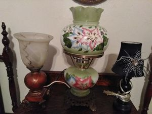 Vintage lamps and rocking chair, all for $45.00. for Sale in Tucson, AZ