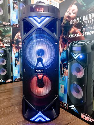 Bocina Nueva Bluetooth SUPER KARAOKE !!! Bluetooth Speaker With LED LIGHTS !!!Rechargeable 🔋 +++ New in Box for Sale in Los Angeles, CA