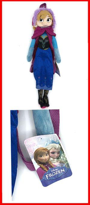 NEW! Kids Disney Frozen ANNA Novelty stuffed toy Plush Backpack Olaf Elsa Mickey Mouse Disneyland stuffed doll for Sale in Long Beach, CA