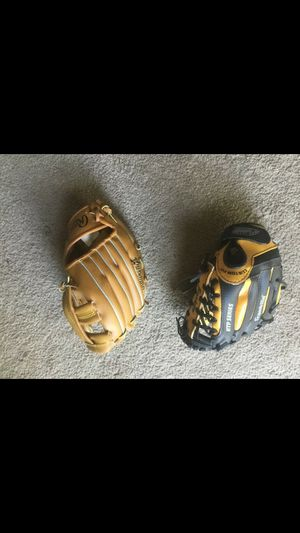 Two baseball gloves for Sale in Schaumburg, IL