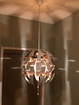 IKEA Pendant lamp white, copper for Sale in Albertville, MN