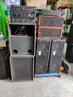 """BAGEND CRYSTAL-1... EMINENCE 18"""" SUBWOOFER SPEAKER STAGE EQUIPMENT/PRO AUDIO SPEAKER SETUP for Sale in Chicago, IL"""