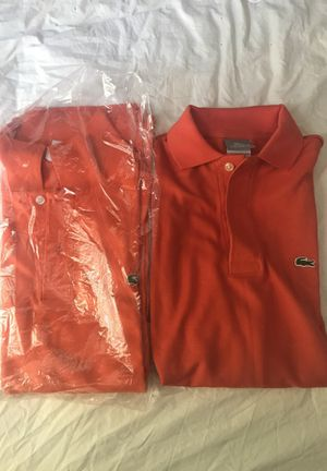 2 brand new Lacoste polo shirts orange size Large or L for Sale in Fairfax Station, VA