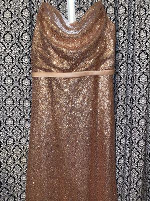 Long Rose Gold sequin dress for Sale in Houma, LA