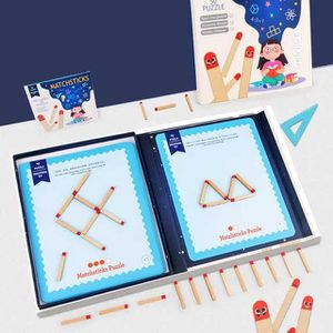 Children matchstick game puzzle for logic problem solving, educational toy, thinking, teaching, boost smartness, smart kids, play enjoy and learn for Sale in Austin, TX