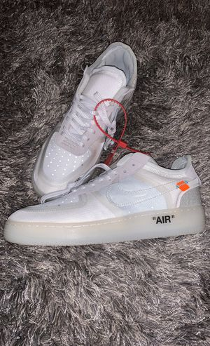 Nike off white Air Force ones low size 11 white for Sale in Highland, CA