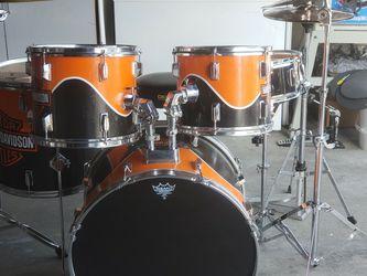 Harley-Davidson Drum Set With Zildjian Cymbals for Sale in West Valley City,  UT