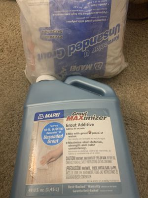 Unsanded grout and grout additive/sealer for Sale in Virginia Beach, VA