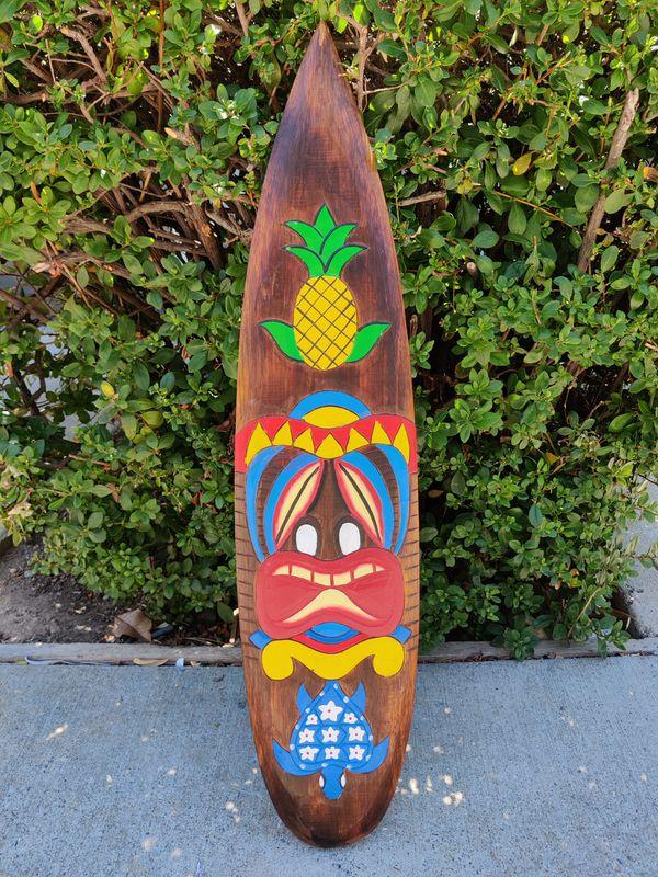 Pineapple Tiki Surfboard