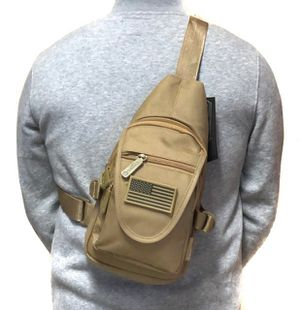 Brand NEW! Tan Small Crossbody/Side Bag/Sling/Pouch For Everyday Use/Traveling/Fishing/Hunting/Biking/Hiking/Skateboarding/Sports for Sale in Carson, CA
