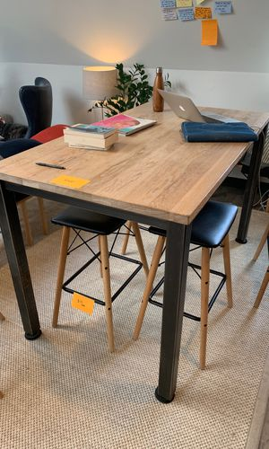 Modern oak high table or standing desk for Sale in Boston, MA