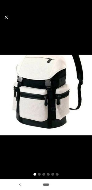 Coach terrain trek backpack book bag white and black for Sale in Palos Hills, IL