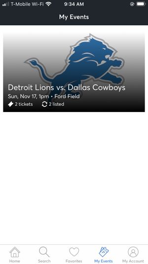 2 Dallas cowboys tickets for Sale in Dearborn Heights, MI