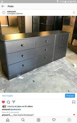 Black 9 drawer dresser for Sale in Los Angeles, CA