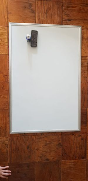 White board with block eraser and cleaner $25 for Sale in Hyattsville, MD