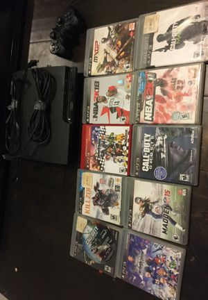PS3 and many games with required cables and wired controller for Sale in Oceanside, CA
