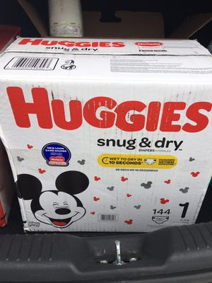 Huggies size 1 box of 144 and 2 packages of size 1 diapers 44 in each - all for $35 for Sale in Virginia Beach, VA