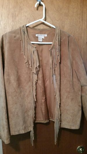 Suede jacket with fringe for Sale in Bothell, WA