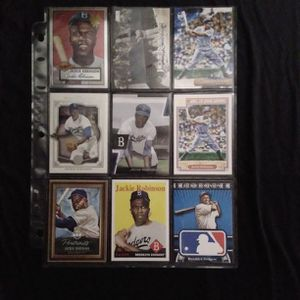 (9) Different JACKIE ROBINSON Baseball Card Lot Brooklyn Dodgers for Sale in Redmond, WA