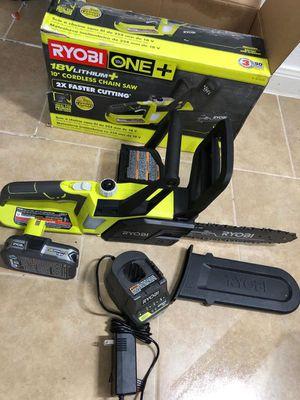 Ryobi 18v cordless chain Saw kit for Sale in Dallas, TX