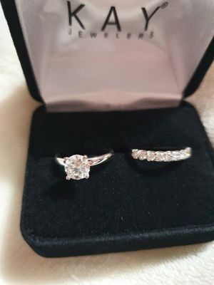 1 Carat diamond solitaire ring with 1/2 carat band for Sale in Hinsdale, IL