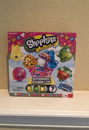Supermarket scramble board game (shopkins) for Sale in Flower Mound, TX