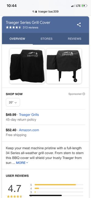 Used, Brand new Traeger Hydrotuff Cover for Junior Traeger for Sale for sale  Edmonds, WA