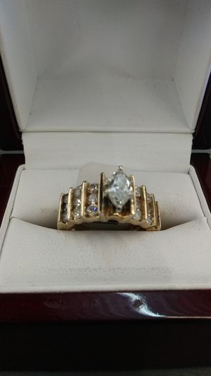 Ladies wedding ring with 60-point are Marquise diamonds for Sale in Austin, TX