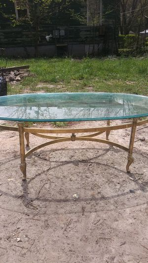 Coffee table brass and glass for Sale in Atlanta, GA