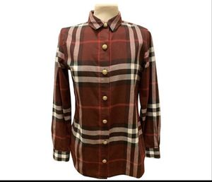 Burberry plaid shirt gold buttons for Sale in Denver, CO