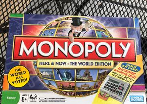 Monopoly Here & Now: the WORLD Edition (Collectors) Electronic [Parker Brothers] for Sale in Bethesda, MD