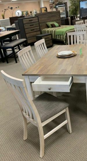 🍁BRAND NEW 🍃 Nina White Dining Set for Sale in Laurel, MD